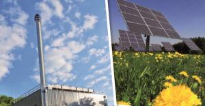 solarenergie und blockheizkraftwerk